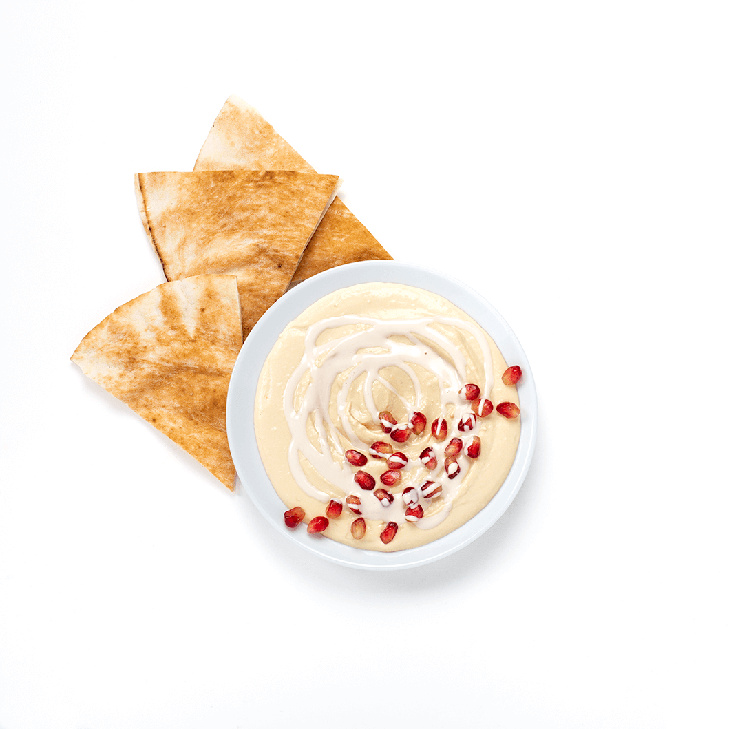 hummus with tahini and pita